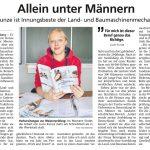 Lucie Kunze ist Innungsbeste der Land- und Baumaschinenmechatroniker. Quelle: HNA